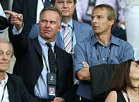 0262164 © Granger - Historical Picture ArchiveJUERGEN KLINSMANN.   Klinsmann, Juergen - Soccer, Coach, FC Bayern Munich, Germany - and Karl-Heinz Rummenigge (l) at the Ernst Happel Stadium in Vienna (Austria), Germany - Spain (0:1) during the Euro 2008 - 29.06.2008 *** Local Caption *** 00992012. Team 2 - ullstein bild / Granger, NYC -- All rig