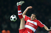 0262656 © Granger - Historical Picture ArchiveGERMANY .   Germany - Berlin: DFB Cup, season 2007-2008, final, Borussia Dortmund v FC Bayern Muenchen 1:2 after extra time - Lucio of Bayern in action on the ball - 19.04.2008 *** Local Caption *** 01021960. contrast/Behrend - ullstein bild / Granger, NYC -- All rights reserved.