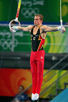 0262799 © Granger - Historical Picture ArchiveCHINA .   China - Peking Beijing: Olympic Games 2008 - Men's Gymnastics Artistic - Fabian Hambuechen (GER) in action during the qualification on the rings - 09.08.2008 *** Local Caption *** 01009162. Firo - ullstein bild / Granger, NYC -- All Rights Reserved.