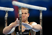 0262801 © Granger - Historical Picture ArchiveCHINA .   China - Peking Beijing: Olympic Games 2008 - Men's Gymnastics Artistic - Fabian Hambuechen (GER) during the qualification on the parallel bars - 09.08.2008 *** Local Caption *** 01009167. Firo - ullstein bild / Granger, NYC -- All Rights Reserved.