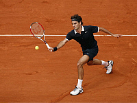 0262809 © Granger - Historical Picture ArchiveROGER FEDERER.   Federer, Roger - Tennis Player, Switzerland - in action during the final of French Open against Rafal Nadal - 08.06.2008 *** Local Caption *** 01022641. Firo - ullstein bild / Granger, NYC -- All rights reserved.