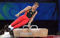0262823 © Granger - Historical Picture ArchiveCHINA .   China - Peking Beijing: Olympic Games 2008 - Men's Gymnastics Artistic , Individual All-Around final - Fabian Hambuechen (GER) in action during his routine on the pommel horse - 14.08.2008 *** Local Caption *** 01009166. Firo - ullstein bild / Granger, NYC -- All rights reserved.