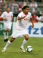 0262904 © Granger - Historical Picture ArchiveHUEZEYFE DOGAN.   Dogan, Huezeyfe - Soccer, Midfielder, 1. FC Union Berlin, Germany - in action on the ball - 08.07.2009. Pollack / contrast - ullstein bild / Granger, NYC -- All Rights Reserved.