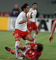 0263144 © Granger - Historical Picture ArchiveSOCCER .   Soccer, friendly match in Istanbul: Turkey vs. Germany 2:1 - scene of the match: duel between Halil ALTINTOP (TUR, 21) and Torsten FRINGS (GER) - 08.10.2005 *** Local Caption *** 00985557. Sven Simon - ullstein bild / Granger, NYC -- All Rights Reserved.