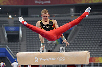 0263461 © Granger - Historical Picture ArchiveCHINA .   China - Peking Beijing: Olympic Games 2008 - Gymnastics Artistic - Fabian Hambuechen (GER) during training session on the pommel horse - 07.08.2008 *** Local Caption *** 00995214. Sven Simon - ullstein bild / Granger, NYC -- All Rights Reserved.