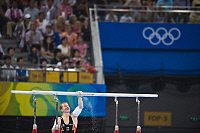0263539 © Granger - Historical Picture ArchiveCHINA .   China - Peking Beijing: Olympic Games 2008 - Men's Gymnastics Artistic , Individual All-Around final - Fabian Hambuechen (GER) getting ready to compete on the parallel bars - 14.08.2008 *** Local Caption *** 01009159. Sven Simon - ullstein bild / Granger, NYC -- All rights reserved.