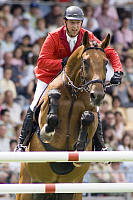 0263555 © Granger - Historical Picture ArchiveFRANKE SLOOTHAAK.   Sloothaak, Franke - Athlete, Showjumping, Germany - riding his horse Legurio during World Equestrian Festival CHIO Aachen 2008 - 02.07.2008. Sven Simon - ullstein bild / Granger, NYC -- All rights reserved.