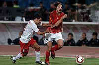 0263584 © Granger - Historical Picture ArchiveSOCCER.   Soccer, friendly match in Istanbul: Turkey vs. Germany 2:1 - scene of the match: duel between Yildiray BASTUERK (TUR, l.) and Torsten FRINGS (GER, r.) - 08.10.2005 *** Local Caption *** 00985560. Sven Simon - ullstein bild / Granger, NYC -- All Rights Reserved.
