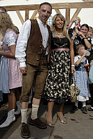 0263790 © Granger - Historical Picture ArchiveFRANCK RIBERY .   Franck Ribery - Midfielder, FC Bayern Munich, France - with wife Wahiba Belhami at Munich's Oktoberfest - 30.09.2007 *** Local Caption *** 00939180. Sven Simon - ullstein bild / Granger, NYC -- All rights reserved.
