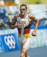 0263799 © Granger - Historical Picture ArchiveCHINA .   China - Peking Beijing: Olympic Games 2008 - Triathlon Men's Final, Run - Jan Frodeno (GER) in action - 19.08.2008 *** Local Caption *** 01007277. Sven Simon - ullstein bild / Granger, NYC -- All rights reserved.