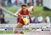 0263930 © Granger - Historical Picture ArchiveCAROLIN NYTRA.   Nytra, Carolin - Athlete, Hurdles, Germany - competing at the 100 metres hurdles event during the German Athletics Association competition in Bochum - 02.08.2009. Sven Simon - ullstein bild / Granger, NYC -- All rights rese