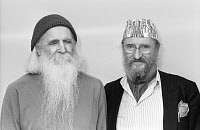0266556 © Granger - Historical Picture ArchiveMOONDOG AND ERNST FUCHS.   American musician and composer Moondog and Austrian artist Ernst Fuchs. Photograph, 1986. Full credit: Teutopress - ullstein / Granger, NYC -- All rights