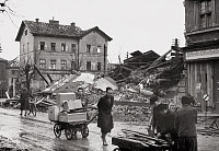 0268486 © Granger - Historical Picture ArchiveVIENNA: RUINS, 1945.   Destroyed roads and buildings in Vienna, Austria, at the end of the war. Photograph, 1945. Full credit: Imagno - ullstein bild / Granger, NYC -- All rights r