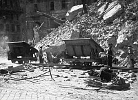 0268494 © Granger - Historical Picture ArchiveVIENNA: RUINS, 1946.   Buildings damaged by wartime bombing in Vienna, Austria. Photograph, June 1946. Full credit: Imagno - ullstein bild / Granger, NYC -- All rights reserved.