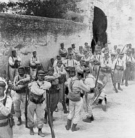 0268972 © Granger - Historical Picture ArchiveMOROCCO: FOREIGN LEGION.   The arrival of the French Foreign Legion in Fez, Morocco. Photograph, 1912.