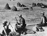 0268977 © Granger - Historical Picture ArchiveALGERIAN WAR, 1955.   French Foreign Legionnaires in Oued Zem, Algeria, during the Algerian War. Photograph, 1955.