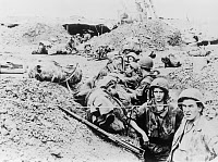 0268984 © Granger - Historical Picture ArchiveFIRST INDOCHINA WAR, 1954.   French Foreign Legionnaires in the trenches during the First Indochina War. Photograph, 1954.