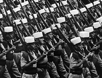 0268988 © Granger - Historical Picture ArchiveBASTILLE DAY, 1966.   A parade of the French Foreign Legion on Bastille Day in Paris, France. Photograph, 14 July 1966.
