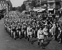 0269001 © Granger - Historical Picture ArchiveBASTILLE DAY, 1939.   A parade of the French Foreign Legion on Bastille Day in Paris, France. Photograph, 14 July 1939. Full credit: Heinrich Hoffmann - ullstein bild / Granger, NYC -- All Rights Reserved.
