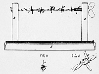 0042248 © Granger - Historical Picture ArchiveBARBED WIRE, 1874.   Joseph Farwell Glidden's patent, 1874, for his invention of barbed wire. Glidden's improvement over previous attempts lay in the special barbed spur wound about the wire strands.