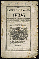 0051316 © Granger - Historical Picture ArchiveFARMER'S ALMANACK, 1848.   Front cover of 'The (Old) Farmer's Almanack' for the year 1848.