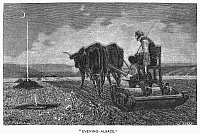 0093116 © Granger - Historical Picture ArchiveFRANCE: TILLING, 1872.   'Evening - Alsace.' Wood engraving after the painting, 1872, by Charles François Marshal (c1828-1877).