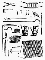 0113748 © Granger - Historical Picture ArchiveGARDENING TOOLS.   Engravings of various tools from an 18th century French book on gardening owned by George Washington.