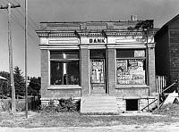 0002389 © Granger - Historical Picture ArchiveCLOSED BANK, 1939.   A closed bank at Haverill, Iowa. Photograph by Arthur Rothstein, September 1939.