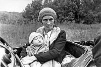 0032783 © Granger - Historical Picture ArchiveMOTHER AND CHILD, 1935.   Mother and child from a destitute family in the Ozark Mountains, Arkansas: photographed, 1935, by Ben Shahn.