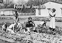 0323128 © Granger - Historical Picture ArchiveFSA SLIDE FILM, 1936.   'Food for health.' Photograph by Dorothea Lange, from a Farm Security Administration slide film, 1936.