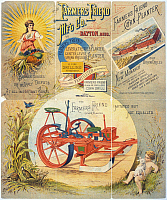 0129132 © Granger - Historical Picture ArchiveAGRICULTURAL MACHINERY.   Poster, late 19th century, for 'The Farmers Friend Manufacturing Company,' maker of agricultural machinery at Dayton, Ohio.