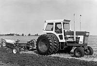 0186526 © Granger - Historical Picture ArchiveINTERNATIONAL HARVESTER.   The International Farmall 1468 tractor manufactured by International Harvester. Photograph, 1971.
