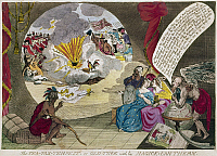 0126556 © Granger - Historical Picture ArchiveBOSTON TEA PARTY CARTOON.   'The Tea-Tax Tempest, or the Anglo-American Revolution.' English cartoon by W. Humphreys, 1783, after the 1778 original, referring the the Boston Tea Party of 1773.
