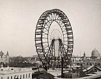 0030653 © Granger - Historical Picture ArchiveFERRIS WHEEL, 1893.   The original Ferris wheel designed and constructed by G.W.G. Ferris for the World's Columbian Exposition at Chicago in 1893.
