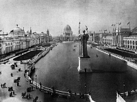 0172739 © Granger - Historical Picture ArchiveCOLUMBIAN EXPOSITION, 1893.   The Grand Basin at the World's Columbian Exposition in Chicago, Illinois. Photograph, 1893.