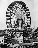 0172740 © Granger - Historical Picture ArchiveFERRIS WHEEL, 1893.   The original Ferris Wheel designed and constructed by George Washington Gale Ferris, Jr. for the World's Columbian Exposition in Chicago, Illinois, 1893.