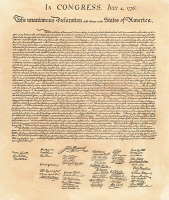 0008418 © Granger - Historical Picture ArchiveDECLARATION OF INDEPENDENCE   Signed copy of the Declaration of Independence, 4 July 1776.