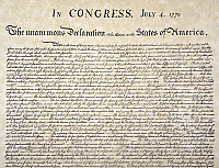 0045582 © Granger - Historical Picture ArchiveDECLARATION OF INDEPENDENCE   Detail of the beginning of the Declaration of Independence, 4 July 1776.