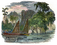 0034483 © Granger - Historical Picture ArchiveFRANCISCO de ORELLANA, 1541.   Fracisco de Orellana's expedition down the Amazon River in search of gold, 1541. Wood engraving, American, 1848.