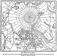 0054858 © Granger - Historical Picture ArchiveMAP OF ARCTIC EXPEDITION.   Map of Captain Charles Francis Hall's 1871 Arctic expedition, and the drift of the party of survivors on the ice-floe. Wood engraving, American, 1873.