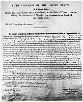 0128509 © Granger - Historical Picture ArchiveALIEN FRIENDS ACT, 1798.   Officially 'An Act Concerning Aliens,' the second of four Alien and Sedition Acts signed by President John Adams in 1798.