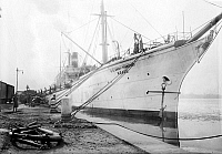0123425 © Granger - Historical Picture ArchiveARMY TRANSPORT SHIP, 1913.   The U.S. Army transport ship 'Meade' being loaded at the Philadelphia Naval Shipyard on League Island at Philadelphia, Pennsylvania, prior to the departure of a U.S. Marine contingent for Guantanamo, Cuba, in response to the Mexican Revolution, February 1913.