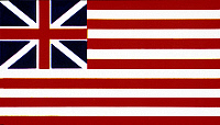 0026823 © Granger - Historical Picture ArchiveU.S. FLAG.   Great or Grand Union Flag raised in Cambridge, Mass., January 1776.