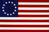 0026828 © Granger - Historical Picture ArchiveU.S. FLAG: BETSY ROSS, 1776.   Betsy Ross or popular version of U.S. Flag.