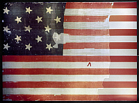 0116682 © Granger - Historical Picture ArchiveTHE STAR SPANGLED BANNER.   The 15 star American flag that flew over Fort McHenry in Baltimore Harbor, September 1814, and inspired Francis Scott Key to write 'The Star Spangled Banner.'