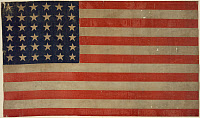 0184267 © Granger - Historical Picture Archive36-STAR U.S. FLAG, c1865.   The U.S. flag from between 1864 and 1867.