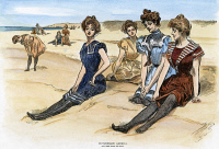 0053822 © Granger - Historical Picture ArchiveGIBSON GIRLS, 1900.   Pen-and-ink drawing by Charles Dana Gibson of bathing-beauties.