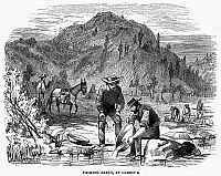 0096302 © Granger - Historical Picture ArchiveCALIFORNIA GOLD RUSH.   'Packing earth.' Wood engraving, 1860.