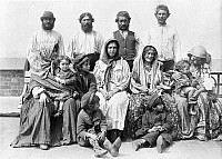0117447 © Granger - Historical Picture ArchiveELLIS ISLAND: IMMIGRANTS.   Group of gypsy immigrants photographed after their arrival at Ellis Island, late 19th or early 20th century.