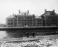 0125096 © Granger - Historical Picture ArchiveELLIS ISLAND, c1912.   Buildings at the immigration station in New York Harbor, c1912.